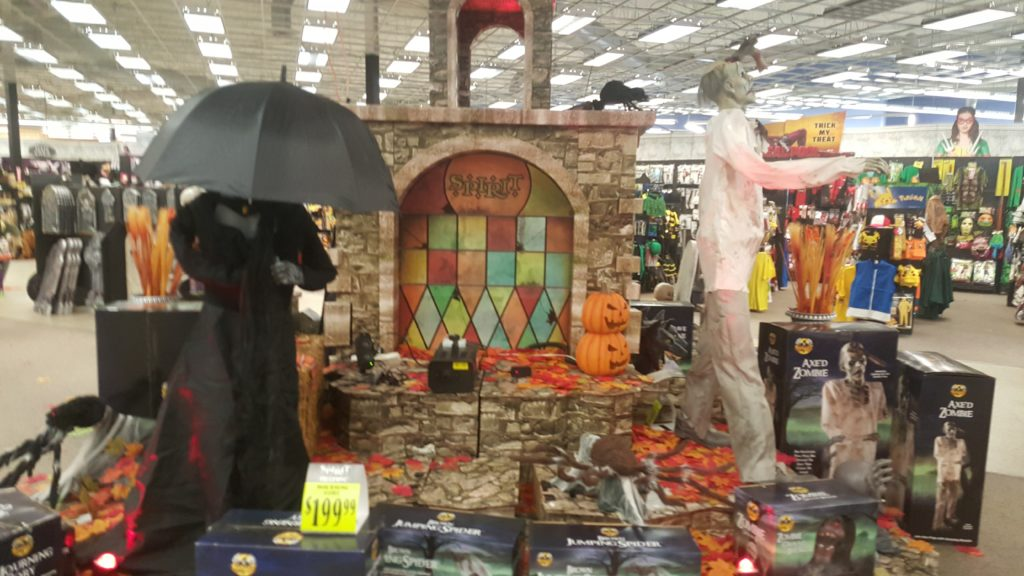 It's Halloween time, and everyone usually will see their signature pumpkin blow up on top of their store. I can't recall the last time I actually went into a Spirit store, mostly because I felt it was super over priced. I was wrong! I actually really enjoyed going into this location with my 6 year old/52 Yelp reviews.