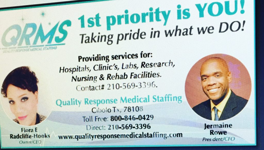 Quality Response Medical Staffing, LLC located in Cibolo, Texas.