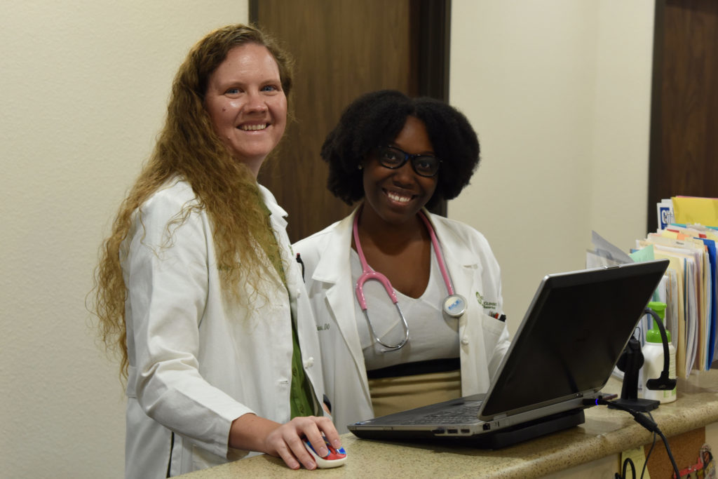 Dr. Cecily Kelly and Dr. Jessica Edwards, physicians at Kelly Family Clinic