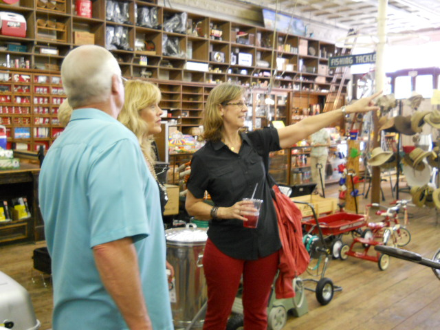 Janice Kingsbury, owner of Do New Braunfels Tours & Concierge Services, conducting a tour.