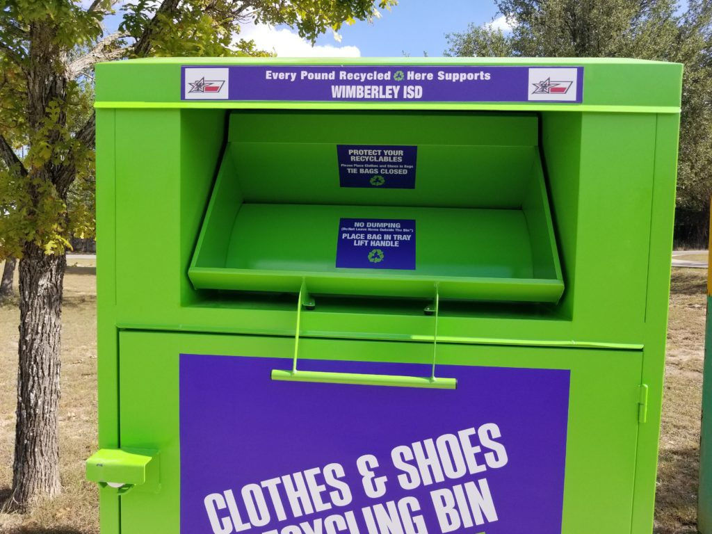 Recycling Bin of Lansdell Recycling, Inc - Wimberley ISD